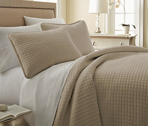 Southshore Fine Linens 3 Piece Oversized Quilt Sets, Taupe) (Oversized Bedding Sets)