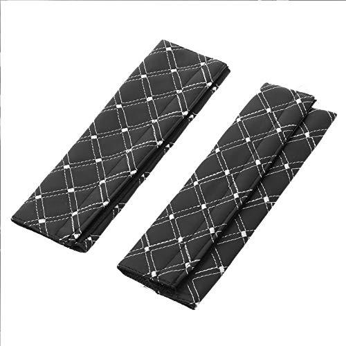 KathShop 1 Pair Microfiber Leather Adjustable Car Safety Seat Belt Shoulder Pad Vehicle Cushion