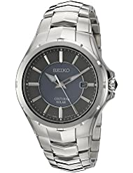 Seiko Mens Coutura Quartz Stainless Steel Dress Watch, Color:Silver-Toned (Model: SNE411)