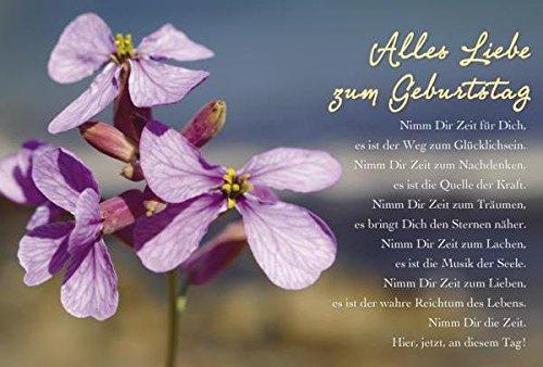 Schöne Geburtstagskarte Alles Liebe Zum Geburtstag Blume Lila