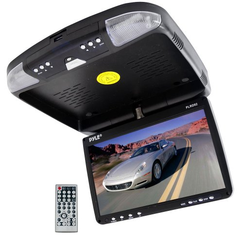 Pyle-9-Inch-Flip-Down-Monitor-and-DVD-Player-with-Wireless-FM-Modulator-IR-Transmitter