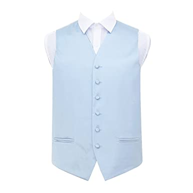 5571780f DQT Plain Satin Classic Glossy Wedding Waistcoat Vest Suit for Men in  Various Colours and Sizes: Amazon.co.uk: Clothing