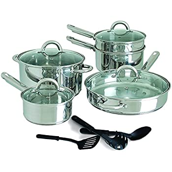 Cuisine select 7 piece stainless steel for Abruzzo 12 piece cookware set from cuisine select