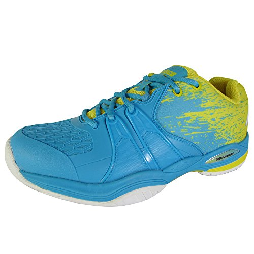 Prince Womens Warrior Lite Tennis Sneaker Shoes, Blue/Yellow, US 8.5