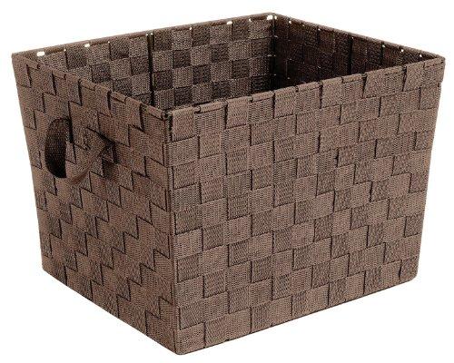 Whitmor Woven Strap Storage Tote  Java ()