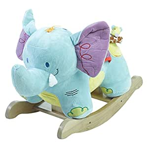 Rockabye Elijah Elephant Rocker, One Size