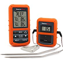 ThermoPro Wireless Remote Digital Cooking Food Meat Thermometer with Dual Probe