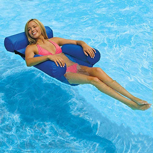 Leonnnnn Hammock Inflatable Pool Float Lounge Water Chair for Adults, Comfortable Inflatable Swimming Pools Lounger Bed for Summer