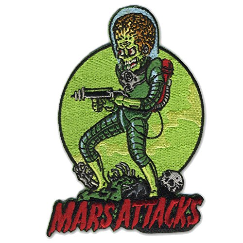 Mars Attacks Death Trooper Alien Patch Embroidered Iron On Applique