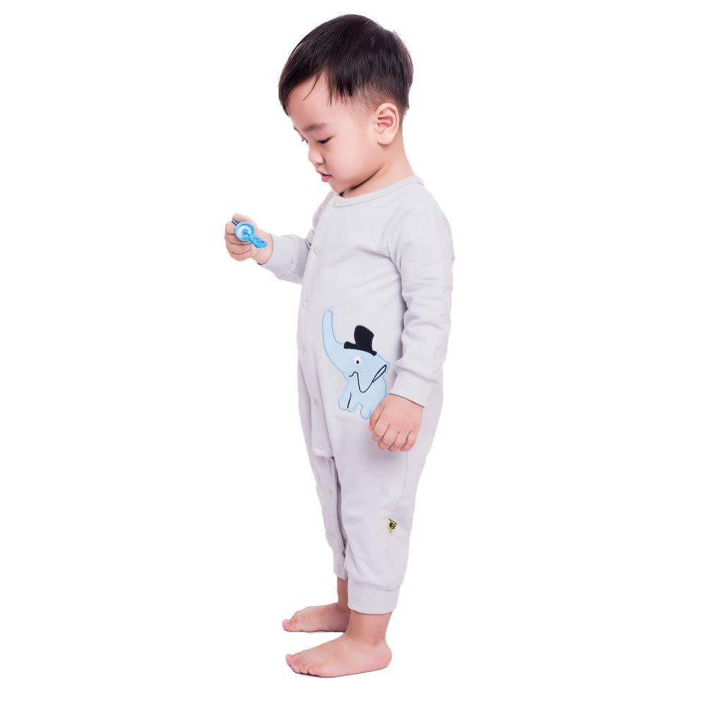 657590aae Teeker Unisex Baby Jumpsuit Cotton Onesies Baby Romper Long Sleeve ...