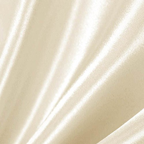 1 X Ivory Satin Fabric 60