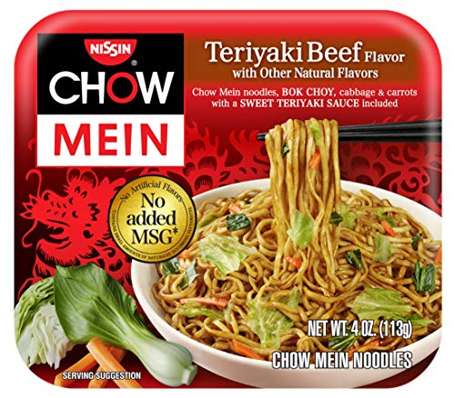 Nissin Chow Mein Premium Teriyaki Beef, 4.0 Ounce (Pack of 12) (Best Cut Of Beef For Stir Fry)