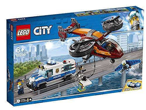 LEGO City Sky Police Diamond Heist Building Blocks for Kids  400 Pcs  60209