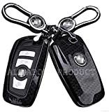 Car Remote Key Fob Case Holder Cover For BMW 1 3 5 7 Series X3 X4 (CARBON FIBER Style)