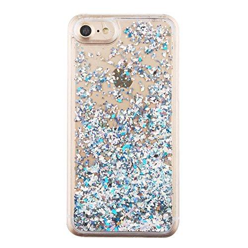 Dynamic Diamond Shaped Sequins PC Hard Tasche Hüllen Schutzhülle Case für iPhone 7 - Silver