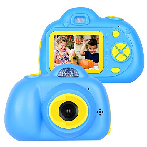 yoyog Kids Digital Camera, Rechargeable Cameras Camcorder for Boys and Girls (New Version) Christmas New Year Birthday Festival Gift (Blue)