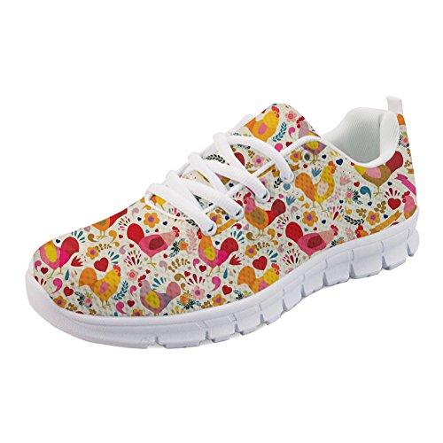 Y Running Mujer H852AQ IDEA Para de Zapatillas 4 HUGS Chicken qOA5T