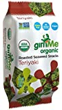 GimMe Health Foods Organic Roasted Seaweed Snacks, Teriyaki, 0.35 Ounce (Pack of 12)
