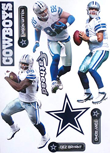 Dallas Cowboys FATHEAD Team Set + Cowboys Logo Official NFL Vinyl Wall Graphics 17