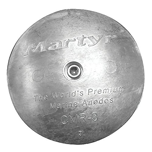Martyr CMR01, Rudder/Trim Tab Disc Anode, Stainless Steel Allen Head, Zinc, 0.35 L x 1-7/8 OD x 0.2 ID by Martyr Anodes