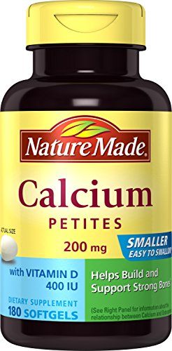 Nature Made Calcium Petites 200 Mg with Vitamin D Softgels, 180 Count