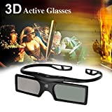Universal 3D Active Shutter Glasses Bluetooth for Samsung UN32D6400UF UN55D6300SF UN65D8000YF UN46D7900XF UN55D7050XF UN55D7000LF UN55D6900WF UN55D6500VF UN46D6450UF UN46D6420UF UN55D6400UF 3D TVs Black