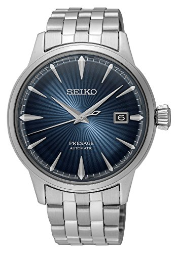 Cocktail Watch - Seiko Men's Presage 23 Jewel Automatic Blue Dial Watch with Date