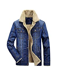 Shallow Denim Men 's Casual Large Size Plus Velvet Jacket Jacket