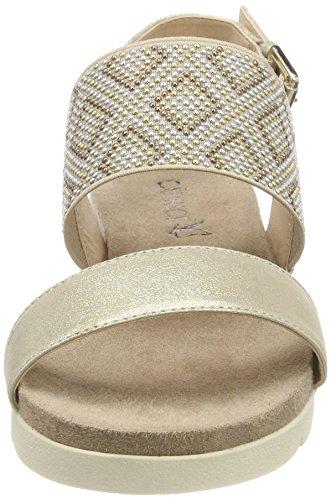 28604 Multi Sandaletten Caprice Womens Lt Gold Gold 970 Silber qqOxH76