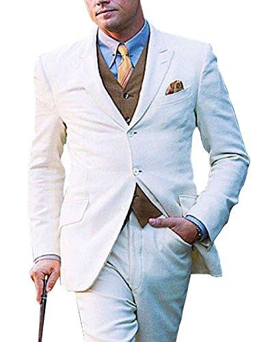 Leonardo Dicaprio Great Gatsby White 3 Piece (Mens Gatsby Clothes)