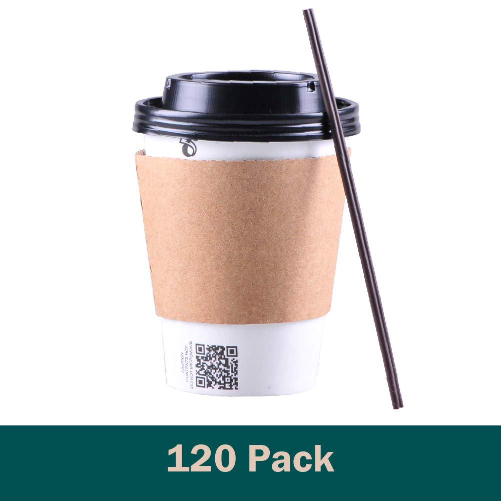 Gotopack Coffee Cups 12OZ 120 Pack Disposable Coffee Cups by Gotopack (Image #7)