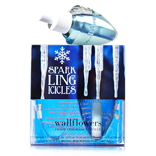 Blue Bulb Icicle - Bath & Body Works Wallflowers Home Fragrance Refill Bulbs Sparkling Icicles 2 Pack