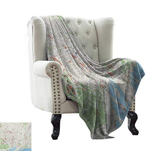 Amazon.com: LsWOW - Manta para sofá, diseño de mapa de los ...