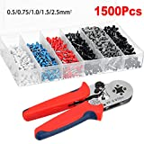Farway Wire Crimping Tool Kit 1500pcs Terminal Connector Sleeves | Electricians, Contractors, Repair Support | Ferrule Crimper Pliers for Stripper, Wiring Projects