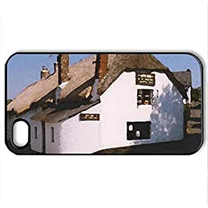 The Artichoke Inn, Christow - Case Cover for iPhone 4 and 4s (Watercolor style, Black)