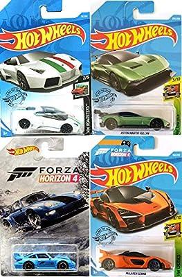 Hot Wheels Reventon Horizon Gt2 Blue 911 Porsch Forza Edition Bundled With Mclaren Senna Orange Lamborghin Roadster Aston Martin Vulcan Die Cast Models 4 Items Buy Online At Best Price In