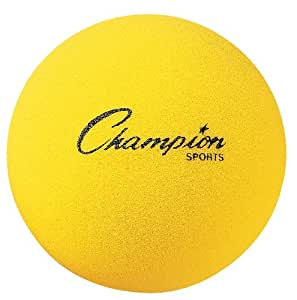 Champion Sports Uncoated Regular Density Foam Ball (6-Inch)