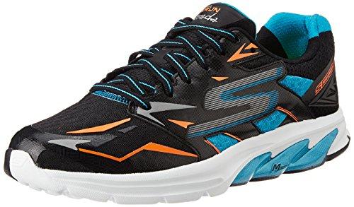 Mens Skechers GO Run Strada Black / Blue 10.5 D