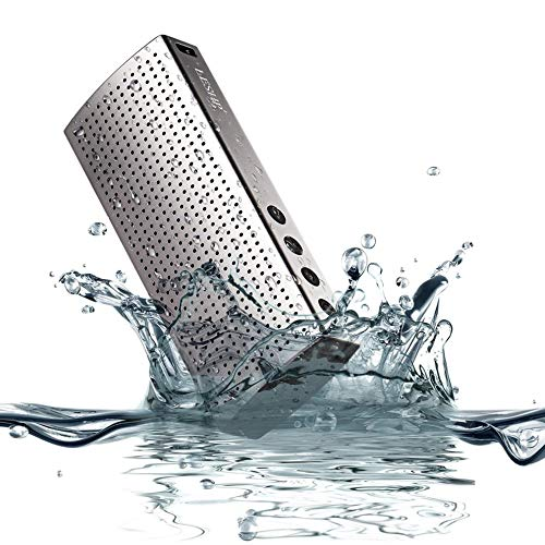 E.I.H. Cow Leather Long Wallet Gray Waterproof IP67 3.7V 2200MA Lithium Polymer Aluminum Speaker Wireless CSR 4.0 8635 Hands-Free 120HZ-20KHZ by E.I.H. (Image #4)