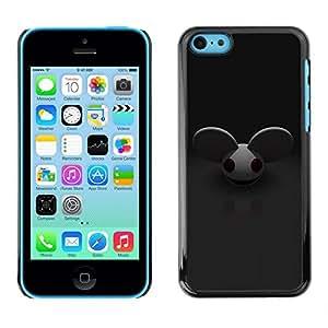 TECHCASE**Cubierta de la caja de protección la piel dura para el ** Apple iPhone 5C ** Mouse Big Ears Rodent Cartoon Character Cute