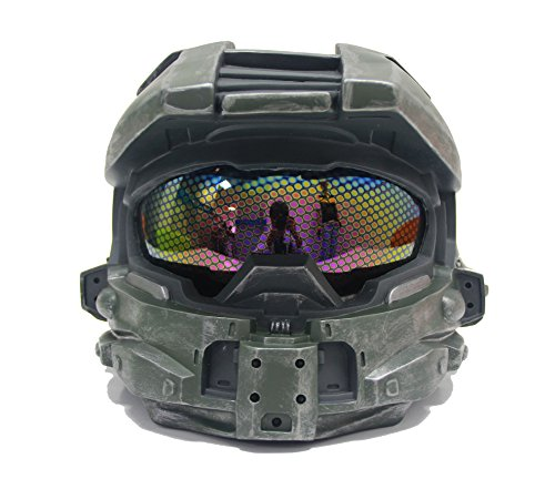 Halloween Scary Masks Helmet Props for Fancy Dress Costume Master Chief Helmet V2 (Halo Master Chief Kids Costume)