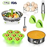 Accessories for Instant Pot Set - 5,6,8 Qt Pressure Cooker Accessories Set with Steamer Basket,Eggshell Cutter,Egg Rack,Egg Bites Mold,Non-Stick Springform Pan,Tong,Silicone Mitts