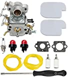 Tri-better C1M-W26 C1M-W26C Carburetor with Air Filter Fuel Line Turn up Kit for Poulan P3314 P3314WS Pro Chainsaw Craftsman PP3516 P3416 P4018 PP3816 PP4218 P4018AV PPB4018
