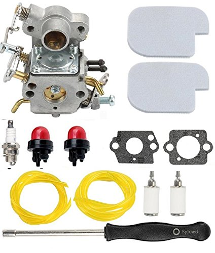 Tri-better C1M-W26 C1M-W26C Carburetor with Air Filter Fuel Line Turn up Kit for Poulan P3314 P3314WS Pro Chainsaw Craftsman PP3516 P3416 P4018 PP3816 PP4218 P4018AV PPB4018 by Tri-better