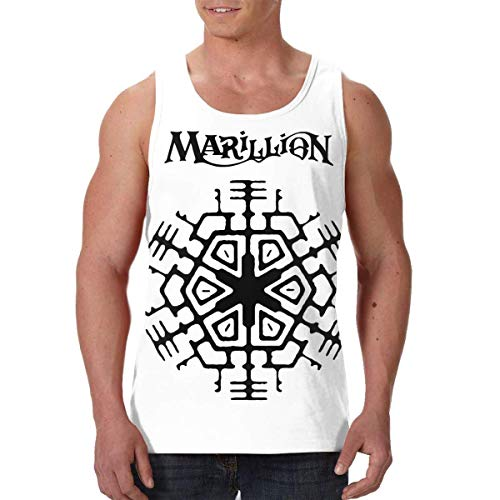 DJNGN Marillion Band Logo Heren Tank Tops Mouwloos Grafisch Vest Shirts Zwart