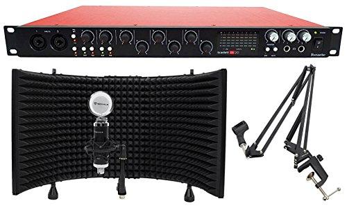 Focusrite SCARLETT 18I20 2nd Gen USB 2.0 Audio Interface+Studio Mic+Shield+Boom ()