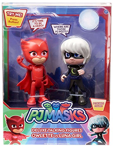 PJ MASKS Deluxe Talking Figures Owlette vs Luna Girl]()