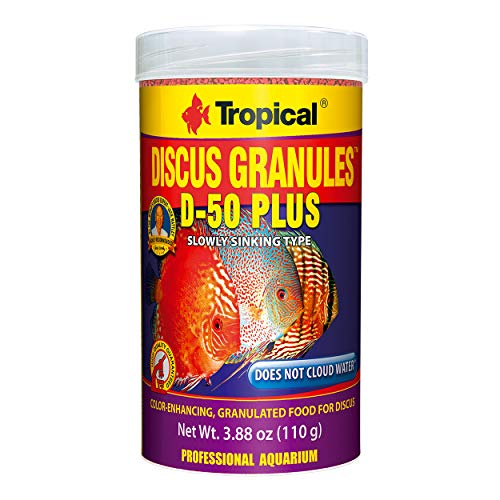 (Tropical USA Discus Granules D-50 Plus Fish Food Tin, 110g)