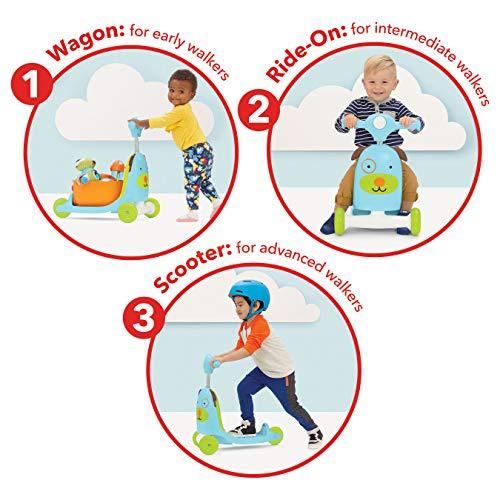 51cDnwscjuL - Skip Hop Kids 3-in-1 Baby Activity Walker & Ride On Scooter Wagon Toy, Dog