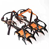 Extendable Traction Cleats/Crampon Hiking Camping Outdoor Anti-skidding Tool for Snow and Ice, Sold in Pair
